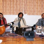 Gurprit in Mehfil with Ustad Shahid Khan